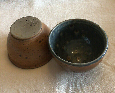 £8.99 • Buy Pair Of Small French Pottery Wood Fired Bowls Poterie Oleta Corse VGC