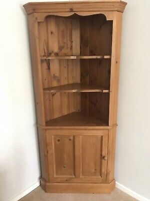 £20 • Buy Large Pine Corner Display Cabinet Cupboard Open Shelves Country Style Unit Wood