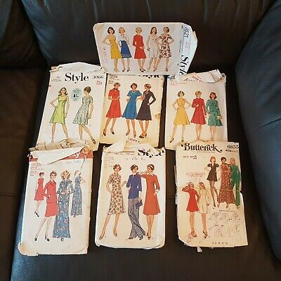 £5 • Buy 7 Style And Butterwick Vintage Sewing Paper Patterns
