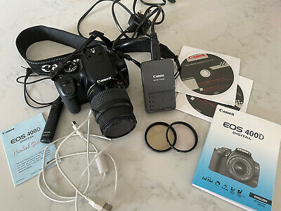 £60 • Buy Canon EOS 400D 10.1 MP DSLR Camera + Lens EF 35-80mm Manuals Remote Switch Etc