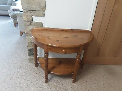£50 • Buy Ducal Victoria Pine Half Moon Console Table With Draw And Shelf.