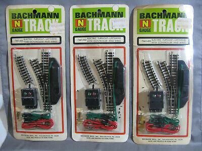 £29.31 • Buy 3 Vintage Bachmann N Gauge Electric Turnout Lefthand With Controller