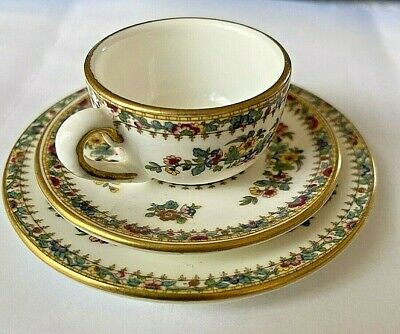 £8.99 • Buy Miniature Coalport  Ming Rose Trio - Cup, Saucer And Plate