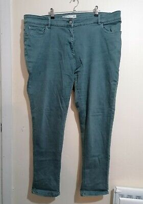 £8.99 • Buy Next Womens Green Denim Relaxed Skinny Jeans Size UK 20 L30  VGC