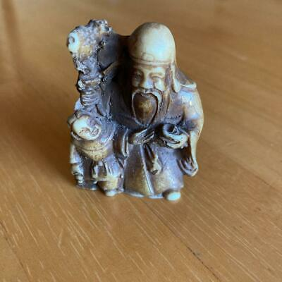 £76.96 • Buy Netsuke Japanese Antique Old Man And Child Carving Collection