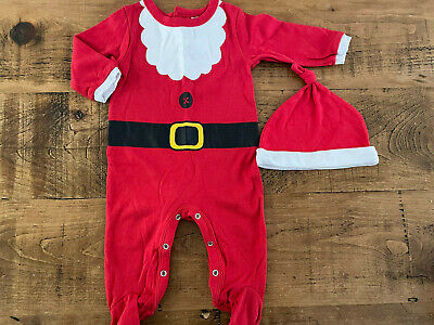£3 • Buy Baby Boy 6-9 Months Peacocks FATHER CHRISTMAS SANTA CLAUS 2 Piece Outfit VGC