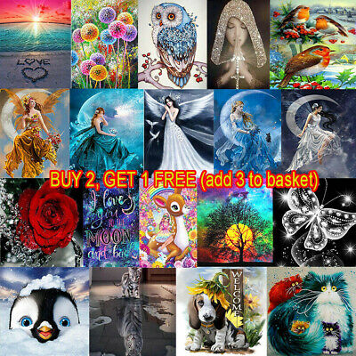 £5.78 • Buy Full Drill 5D Diamond Painting Embroidery Picture Art Cross Stitch DIY Kit UK