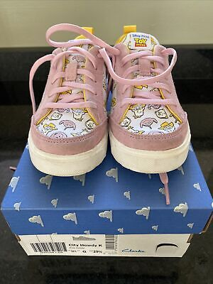 £15 • Buy Clarks Girls Toy Story Trainers Size 11.5 G