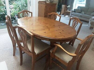 £100 • Buy Ducal Victoria Pine Extending Table And 6 Chairs.