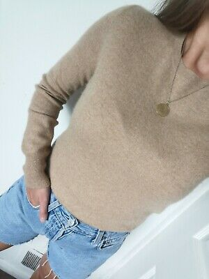£24.90 • Buy M&S 100% Pure Cashmere Sweater Jumper Knit Camel Brown Nude  Size 8 S