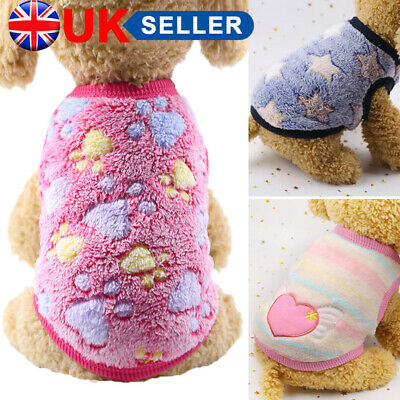 £4.99 • Buy Pet Fleece Clothes Puppy Dog Jumper Sweater Small Yorkie Chihuahua Cat Outfit J