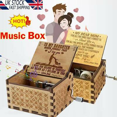 £6.01 • Buy You Are My Sunshine Wooden Engraved Music Box For Mom/Dad To Daughter/Son U K