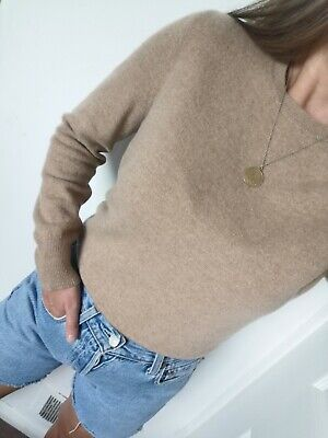 £21.90 • Buy M&S 100% Pure Cashmere Sweater Jumper Knit Camel Brown Nude  Size 8 S