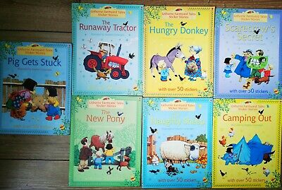 £3 • Buy Usborne Farmyard Tales Sticker Stories 7xbooks Collection Set