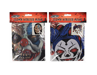 £1.99 • Buy Clown Face Mask Halloween Fancy Dress Stretchy Adult Scary Costume Decoration
