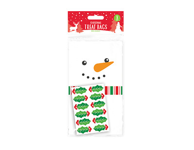 £1.99 • Buy X8 Paper Christmas Treat Sweet Cake Pop Bags With Holly Stickers Snowman Design