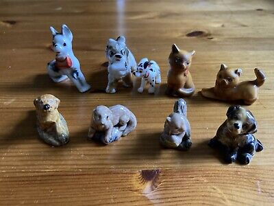 £3.50 • Buy Collection Of 4 Wade Whimsies Animals.Dogs X2 Otter, Squirrel & Antique Dogs Cat