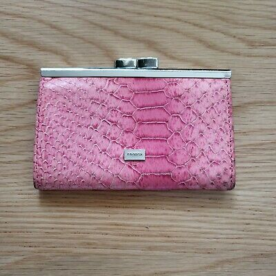 AU18 • Buy Oroton Pink Python Small Card Purse Wallet Holder Pre-Owned Genuine Leather