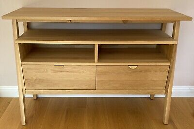 £299 • Buy Scandi Oak Console Table/sideboard/TV Stand From Tikamoon Pola Series
