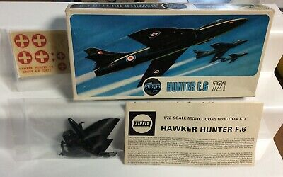 £1.99 • Buy VINTAGE AIRFIX 1:72 Scale Hunter F.6 Jet SPARES/Vintage Box ONLY