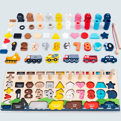 £35.95 • Buy Magnetic Fishing Toys Children Educational Toy Funny Game Toy Car Number Puzzle