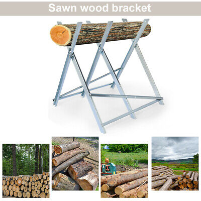 £35.98 • Buy Outdoor Foldable Sawhorse Cutting Chainsaw Log Holder Saw Wood Metal Holder