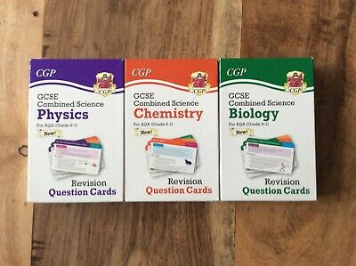 £7.50 • Buy CGP GCSE Combined Science Revision Cards For Chemistry, Biology, Physics-AQA 9-1