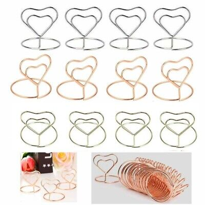 £6.99 • Buy 20pcs Metal Table Card Holder Stand Number Place Name Menu Party Wedding Decor