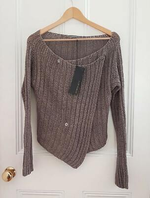 £89.99 • Buy £195 When New. With Tags Designer Annette Gortz Knitted Cross Over Top Medium