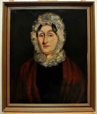 £53 • Buy Large Antique 19th Century Oil On Canvas Portrait Of A Lady English Painting