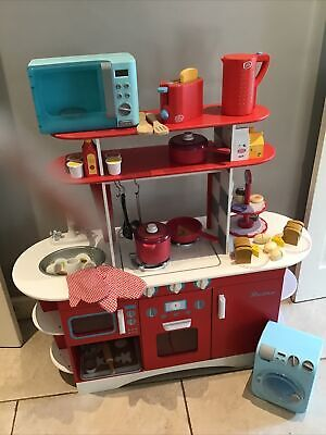£48 • Buy ELC Early Learning Centre Wooden Retro Red Diner Kitchen With Extras
