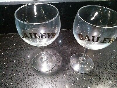 £5 • Buy 2 X Vintage Baileys Glasses RARE!!!  Perfect Condition.