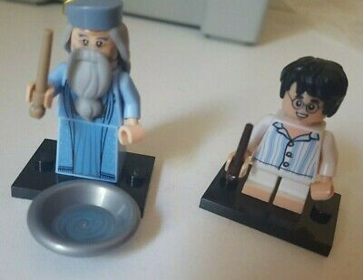 £10.50 • Buy LEGO Harry Potter Minifigure Very Young In PJ's And Dumbledore With Pensieve