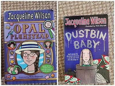 £6 • Buy New Jacqueline Wilson 2 Books Set. Dustbin Baby And Opal Plumstead.