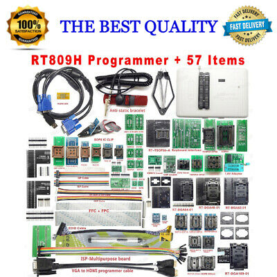 £581.91 • Buy RT809H EMMC-NAND FLASH Programmer +57 ADAPTERS Full Set Best Quality Top Rated
