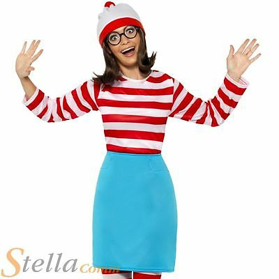 £27.99 • Buy Ladies Where's Wenda Costume Wally Bok Day Fancy Dress Outfit