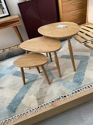 £325 • Buy New Ercol Shalstone Nest Of 3 Tables Oak From John Lewis