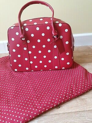£10 • Buy Cath Kidston Red Spotty Leather Bag