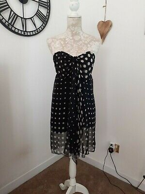 £10 • Buy Topshop Concessions Vintage Strapless Dress Frank Usher Peekaboo Size 8 Rrp £55