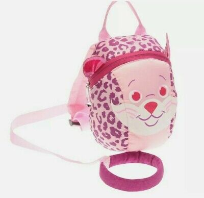 £12.99 • Buy TODDLER BACKPACK WITH REINS Handle PINK Girls CHEETAH Infants STAR Leopard Print