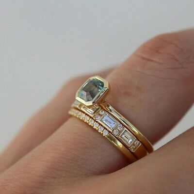 £0.71 • Buy Gorgeous 18K Yellow Gold Plated Jewelry Women Sapphire Wedding Ring Size 9