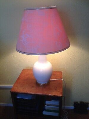 £35 • Buy Pair Of Vintage Cream Chinese Shape Lamp Bases & Shades