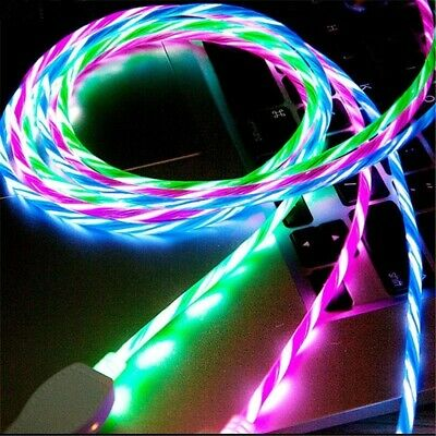 AU9.78 • Buy LED Glowing USB TypeC Fast Charging Cable For Android Samsung Galaxy S8 S9 Plus