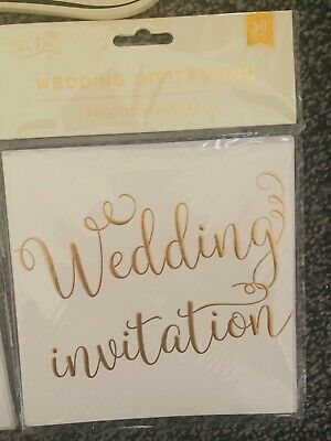 £1.50 • Buy 40 Wedding Invitations Brand New In Sealed Pack. With Envelopes &countdown Board