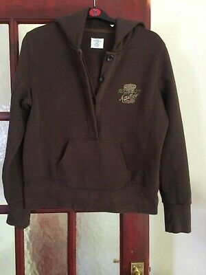 £2.99 • Buy H & M, LOGG, L, Brown Hoodie, Cropped Style, 4 Button Closure, Pocket At Front