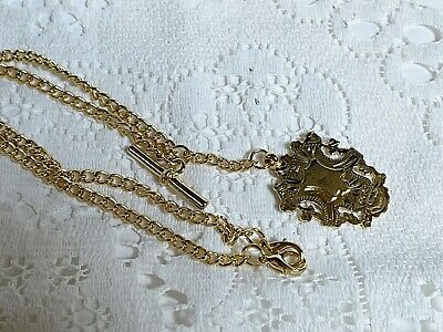 £14.99 • Buy A Lovely Gold Plated Watch Fob T Bar Chain Necklace