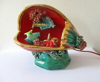 £24.95 • Buy Vintage 1950s/ 60s  French Kitsch Vallauris Clam Shell / Fish Lamp