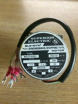 £40 • Buy Superior Electric SLO-SYN MA61FS-80020 Synchronous/step Motor Type 200 Steps/rev