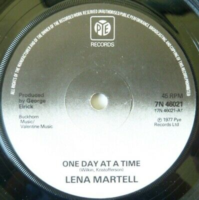 £5 • Buy Lena Martell:  One Day At A Time / Hello Jisty Morning:  Near Mint Single  1977