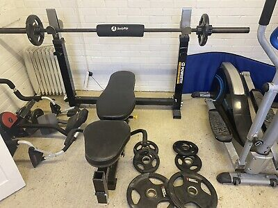 £400 • Buy Powertec Bench With Olympic Bar And Weights